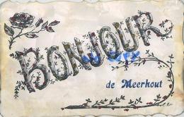 Meerhout :  Bonjour  ( 1907 Met Zegel ) - Meerhout
