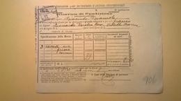 1906 FERROVIE DELLO STATO REGNO RICEVUTA SPEDIZIONE STRADE FERRATE MERIDIONALI GRANDE VELOCITA DESCRIZIONE MERCI - Europa