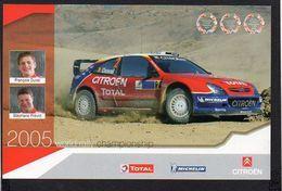 World Rally Championship 2005 / Citroen Xsara WRC / François Duval Et Stéphane Prévot ( Voir Verso ) - Rallyes