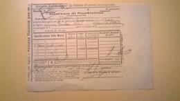 1905 FERROVIE DELLO STATO REGNO RICEVUTA SPEDIZIONE STRADE FERRATE MERIDIONALI GRANDE VELOCITA DESCRIZIONE MERCI - Treni