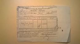 1904 FERROVIE DELLO STATO REGNO RICEVUTA SPEDIZIONE STRADE FERRATE MERIDIONALI GRANDE VELOCITA DESCRIZIONE MERCI - Europa