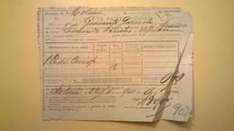 1902 FERROVIE DELLO STATO REGNO RICEVUTA SPEDIZIONE STRADE FERRATE MERIDIONALI GRANDE VELOCITA DESCRIZIONE MERCI - Europa