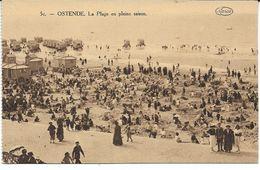CPA - OSTENDE -  La Plage En Pleine Saison (de Carnet) - Oostende