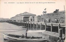 ¤¤   -  AUSTRALIE  -  SYDNEY  -  Les Quais ( Wharf De La Compagnie Des Messageries Maritimes )   -  ¤¤ - Sydney