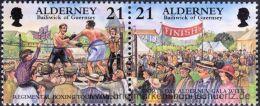 Alderney 2000, Mi. 158-65 ZD ** - Alderney