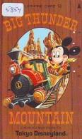 Télécarte Japon  110-27304 - Disneyland - Mickey / BIG THUNDER MOUNTAIN Train Zug (5854)  Japan Phonecard Telefonkarte - Disney