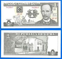 Cuba 1 Peso 2003 Commemo Jose Marti 150 Ans Neuf UNC Skrill Paypal OK Jose Marti Kuba Pesos - Cuba