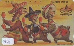 Télécarte Japon 110-92223 - DISNEY Disneyland - Série COUNTRY BEAR - OURS & Danse   (5858)  Japan Phonecard Telefonk - Disney