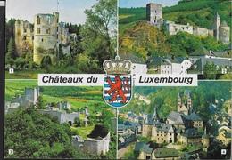 CHATEAUX DU LUXEMBOURG -VIAGGIATA FRANCOBOLLO ASPORTATO - Cartoline
