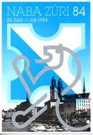 SUISSE. Carte Postale Neuve. Exposition Nationale De Philatélie/Naba Züri 84. - Timbres (représentations)