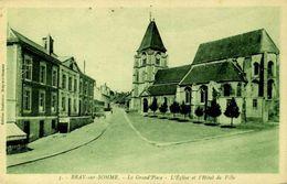 80 BRAY-SUR-SOMME / LA GRAND PLACE / A 82 - Bray Sur Somme