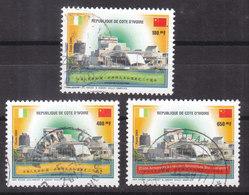 Côte D'Ivoire Oblitérés 20ème Anniversaire Relations Sino-ivoirienne  YT 1101-3 ; Michel 1300-2 - Costa De Marfil (1960-...)