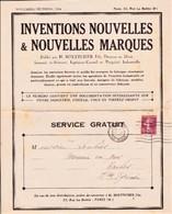 Revue Illustrée Inventions Et Marques, BOETTCHER, Nov/Déc 1934 Timbre Semeuse 17/06/35 - Old Paper