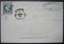 1856 Napoléon Vendée Lettre De Renard & Lebosquain Pour Angers - 1849-1876: Période Classique