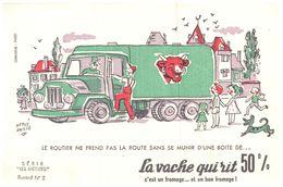 """Fr VR ) Buvard Fromage La Vache Qui Rit  Les Métiers Illustrateur """"RV Baille""""   (N= 2) - Dairy"""