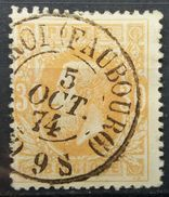 BELGIUM 1870 KING LEOPOLD II INK FAUBOURG CHARLEROI - 1869-1883 Leopold II
