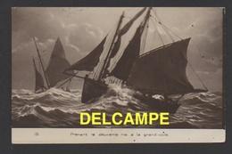 DF / TRANSPORTS / BATEAUX / VOILIERS / PRENANT LE DEUXIÈME RIS À LA GRAND-VOILE / CIRCULÉE EN 1917 - Sailing Vessels