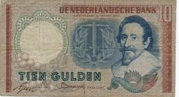 H31 - PAYS BAS - Billet De 10 Gulden - Tien Gulden - [2] 1815-… : Royaume Des Pays-Bas