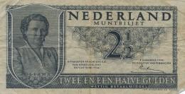 H31 - PAYS BAS - Billet De 2,5 Gulden - Twee En Een Halve Guilden - [2] 1815-… : Royaume Des Pays-Bas
