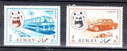Ajman   -   1967. Auto E Bus. Car And Bus. MNH - Bus