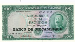 H31 - MOZAMBIQUE - Billet De 100 Escudos - 1961 - Mozambique