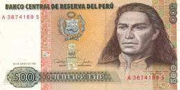 H31 - PEROU - Billet De 500 INTIS - 1987 - Peru