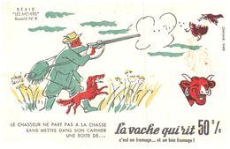 """Fr VR ) Buvard Fromage La Vache Qui Rit  Les Métiers Illustrateur """"RV Baille""""  (N= 4) - Dairy"""