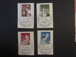 Berlin Nr. 193 - 196 Gestempelt Auf Papier (B14) - Berlin (West)