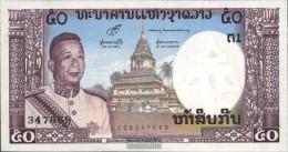 Laos Pick-number: 12a Uncirculated 1963 50 Kip - Laos