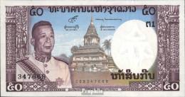 Laos Pick-Nr: 12a Bankfrisch 1963 50 Kip - Laos