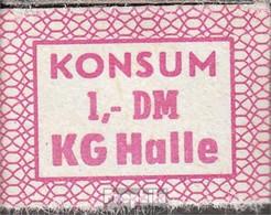 DDR Konsummarke KG Halle Bankfrisch 1 DM - [ 6] 1949-1990 : RDA - Rep. Dem. Tedesca