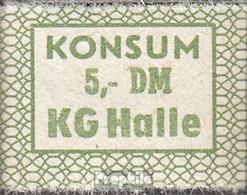 DDR Konsummarke KG Halle Bankfrisch 5 DM - Other