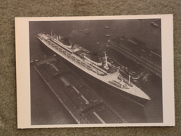 FRENCH LINE CGT FRANCE DOCKING - AERIAL VIEW - MODERN - Dampfer