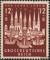 German Empire 862 (complete Issue) Unmounted Mint / Never Hinged 1943 Hansestadt Lübeck - Germany