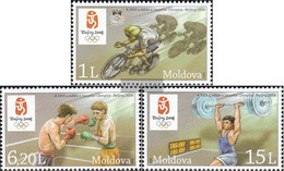 Moldawien 608-610 (complete Issue) Unmounted Mint / Never Hinged 2008 Olympics Summer 2008 - Moldova