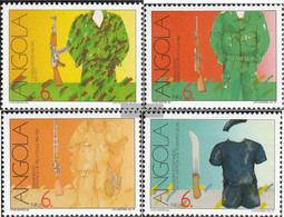 Angola 842A-845A (complete.issue.) Unmounted Mint / Never Hinged 1991 Freedom Fight - Angola