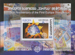 Georgia Block38 (complete.issue.) Unmounted Mint / Never Hinged 2006 50 Years Europe Trade - Georgia