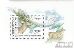 Usbekistan Block1 (kompl.Ausg.) Postfrisch 1993 Einheimische Fauna - Usbekistan