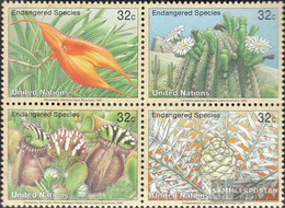 UN - New York 707-710 Block Of Four (complete Issue) Unmounted Mint / Never Hinged 1996 Affected Plants - New York – UN Headquarters