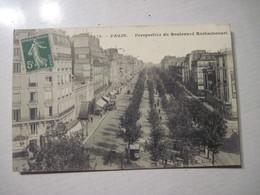 CPA  75  PARIS Perspective Boulevard Rochechouart 1907  T.B.E. Animée - France