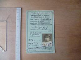 CARTE REDUCTION SUR BILLET DE TRAIN 1924 / 25 - Vieux Papiers