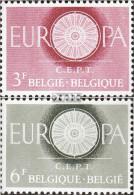 Belgien 1209-1210 (kompl.Ausg.) Postfrisch 1960 Europa - Belgien