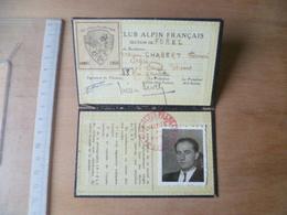 CARTE  CLUB ALPIN FRANCAIS 1950  MONTAGNE ALPINISME - Vieux Papiers