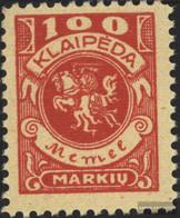 Memelgebiet 146 With Hinge 1923 Postage Stamp - Klaïpeda