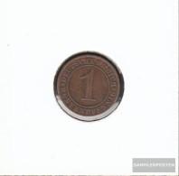 German Empire Jägernr: 306 1924 D Very Fine Bronze Very Fine 1924 1 Rentenpfennig Ährengarbe - Switzerland