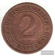 German Empire Jägernr: 307 1924 G Very Fine Bronze Very Fine 1924 2 Rentenpfennig Ährengarbe - 2 Rentenpfennig & 2 Reichspfennig