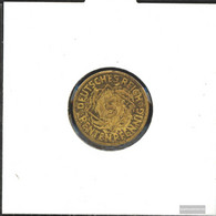 German Empire Jägernr: 308 1924 G Very Fine Aluminum-Bronze Very Fine 1924 5 Rentenpfennig Spikes - Vatican
