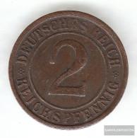 German Empire Jägernr: 314 1925 E Very Fine Bronze Very Fine 1925 2 Reich Pfennig Ährengarbe - 2 Rentenpfennig & 2 Reichspfennig