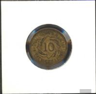 German Empire Jägernr: 317 1924 G Very Fine Aluminum-Bronze Very Fine 1924 10 Reich Pfennig Spikes - Yugoslavia