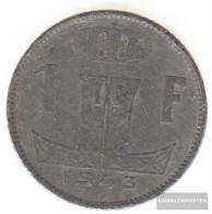 Belgium Km-number. : 128 1942 Very Fine Zinc Very Fine 1942 1 Franc Leo On Shield - 1934-1945: Leopold III